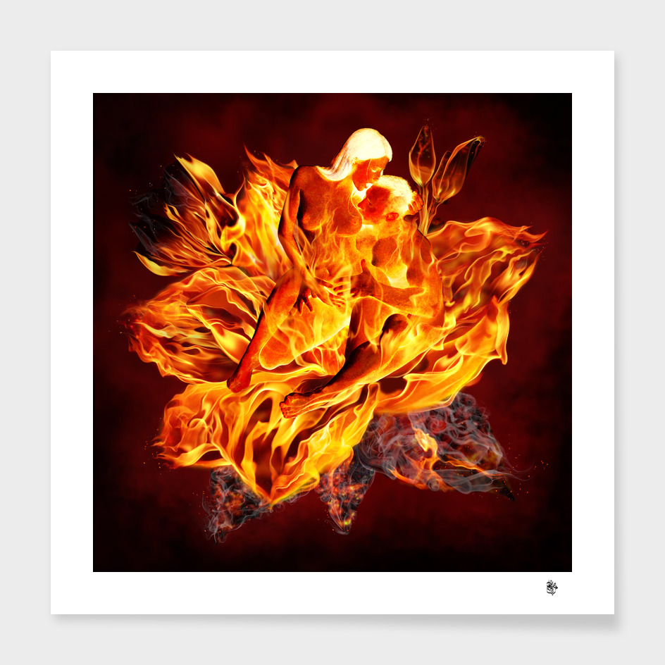 Entwined in flaming urge