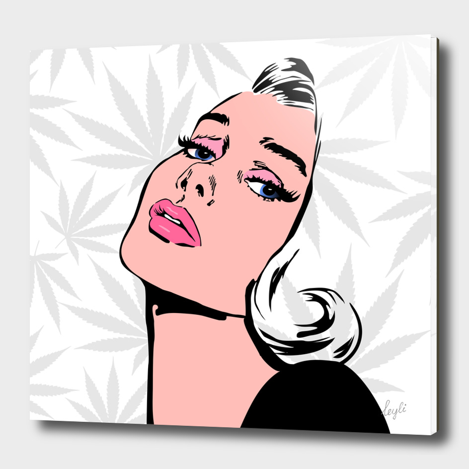 High Pop Art Lady