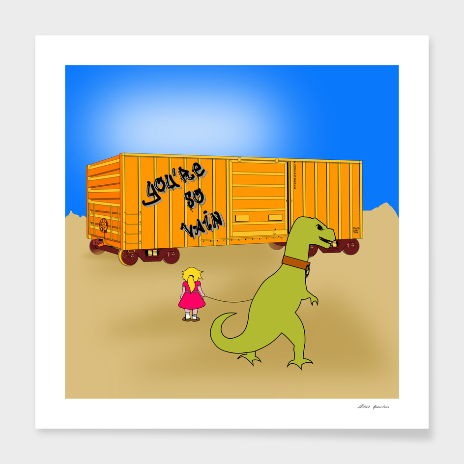 girl and t-rex