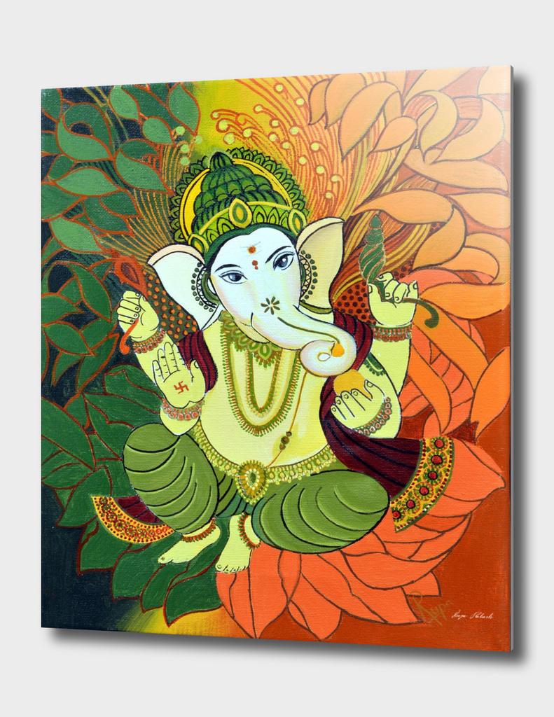 Leaves Ganesha