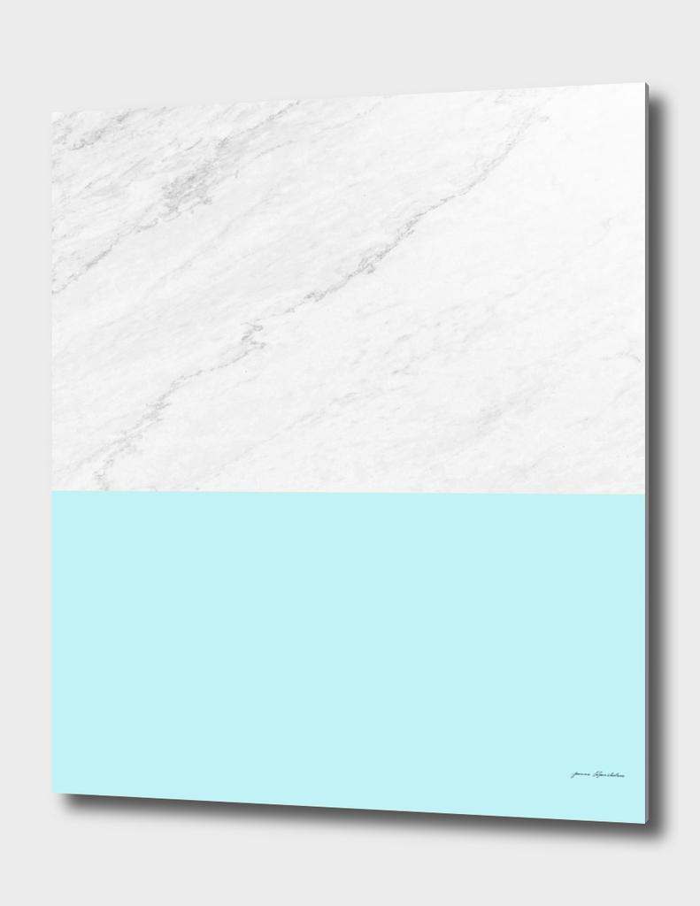 Marble and aqua blue