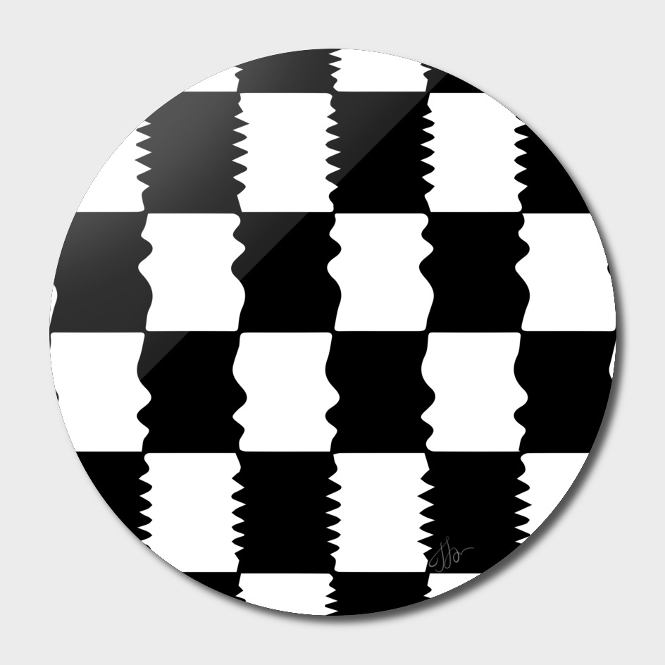 Amorphous checkerboard