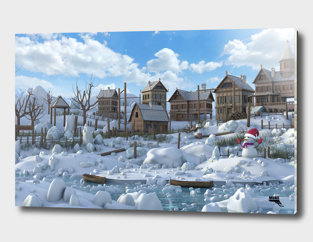 Snow Rustic Town