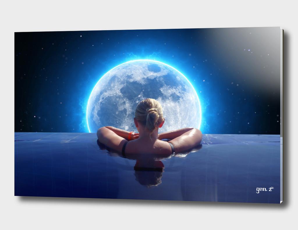 Pool Moon by GEN Z