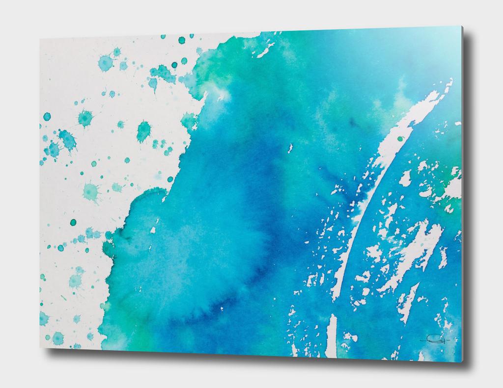 Watercolor Aqua