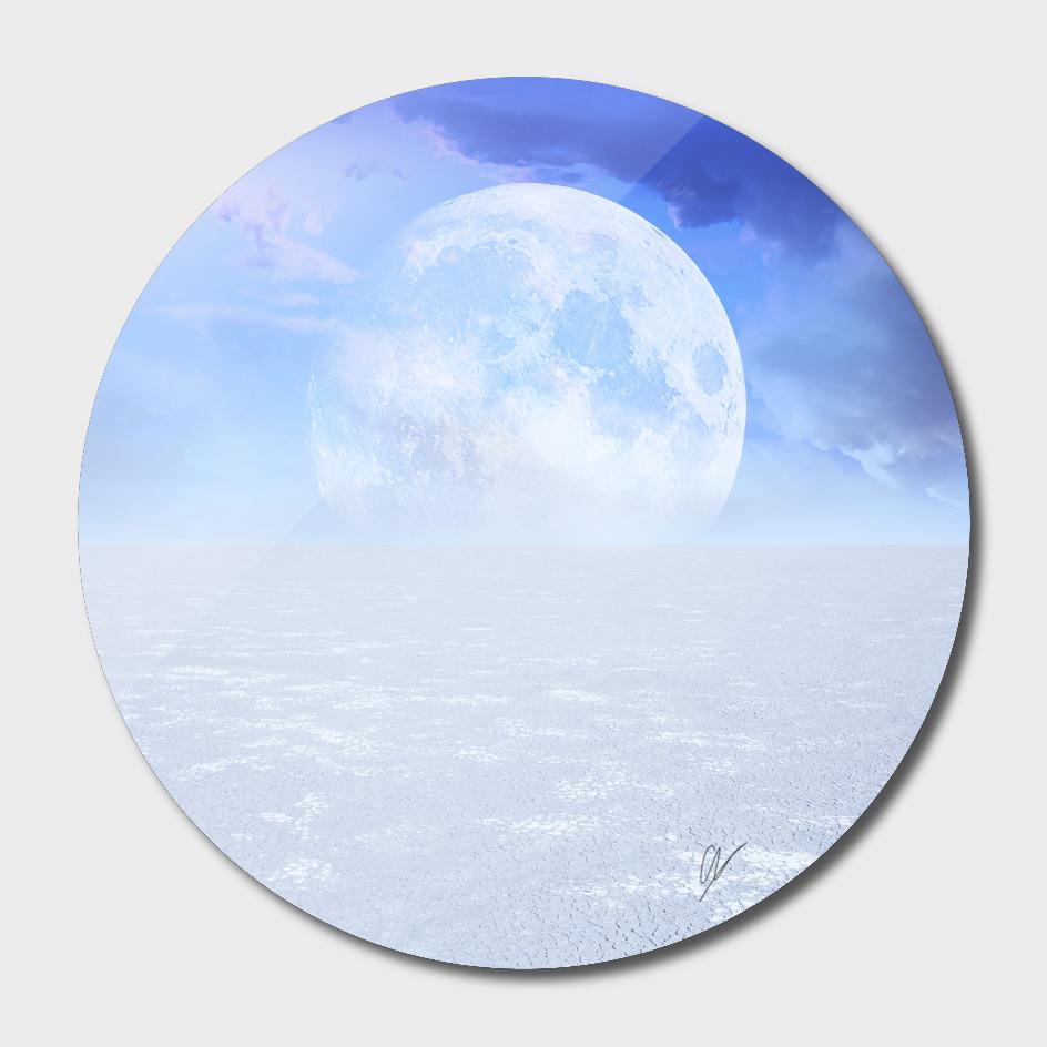 Desert Moon in Full Blue