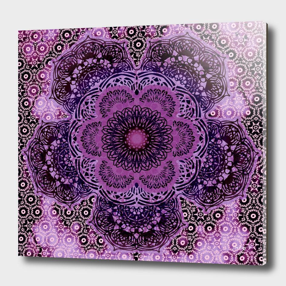 Violet Flora Brocade Mandala
