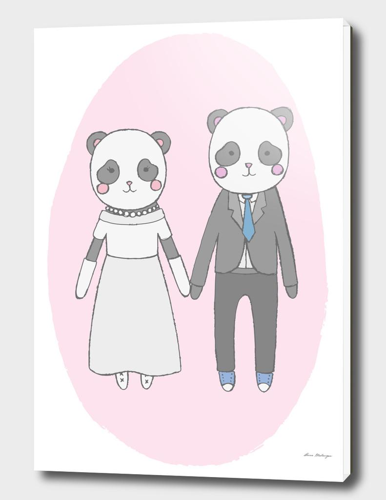 Wedding pandas