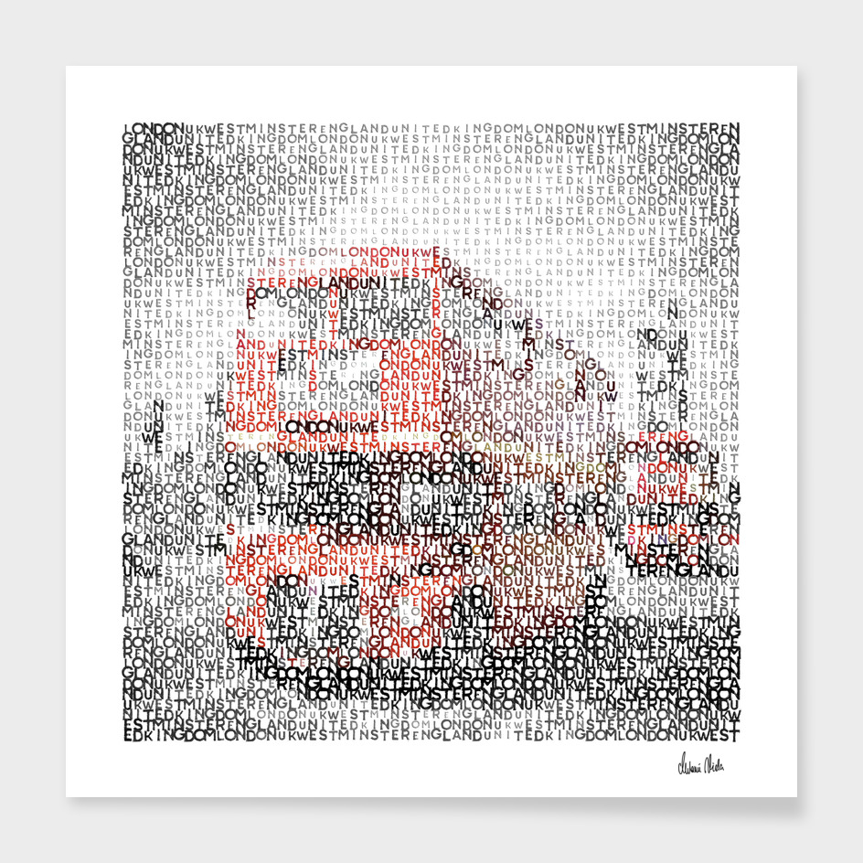 Typographic Art | LONDON Westminster Bridge Buses