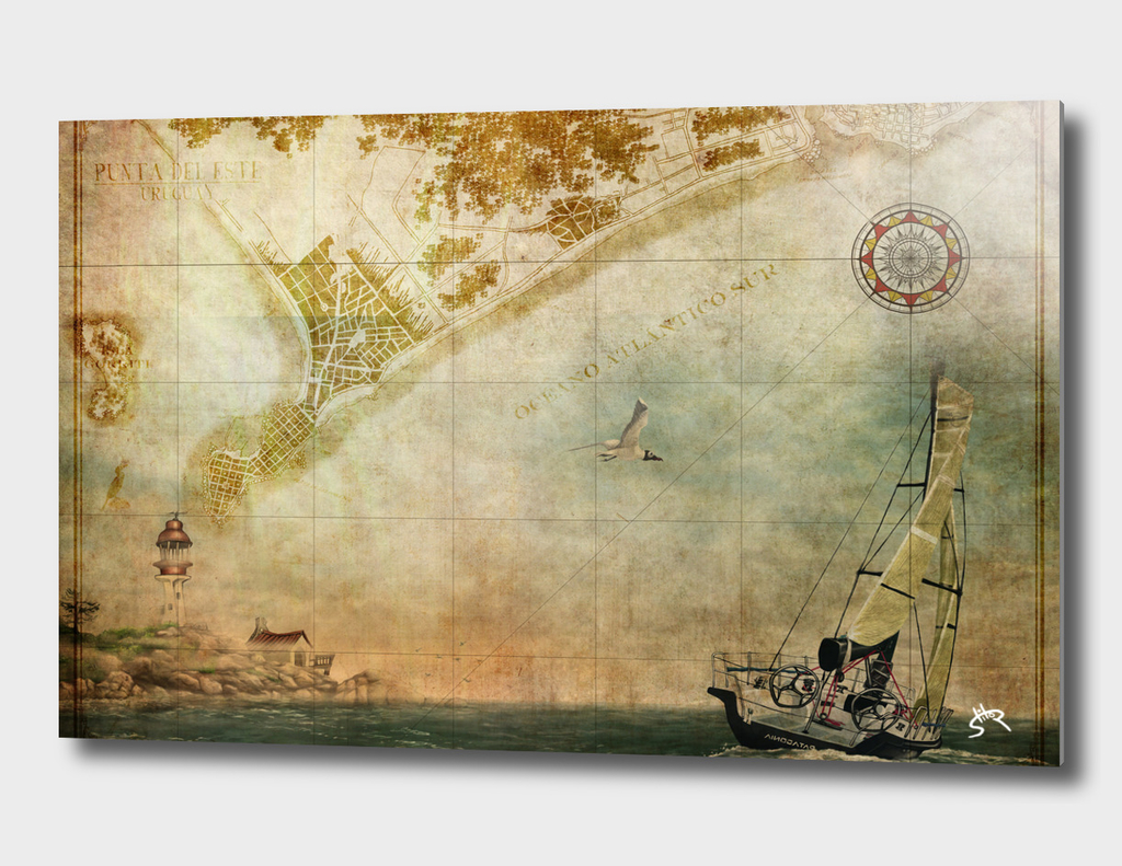 Sailing map-Punta del este