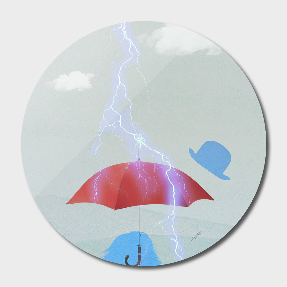 umbrella in a storm