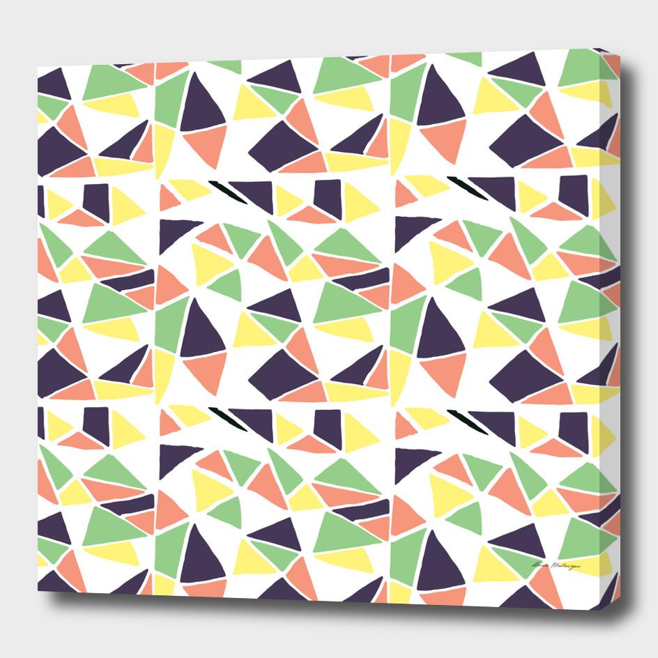 Seamless mosaic pattern triangles