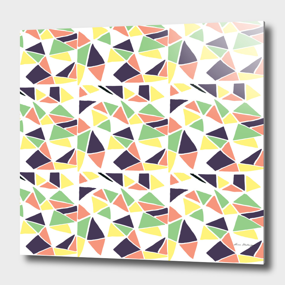Seamless mosaic pattern triangles