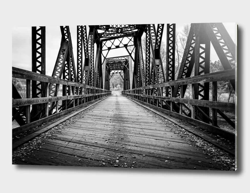 Old Train Bridge Black and White