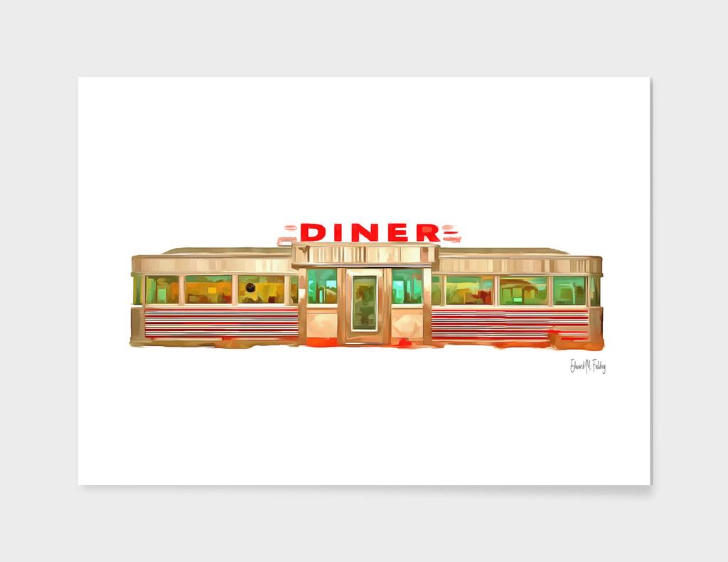 Classic American Diner Exterior