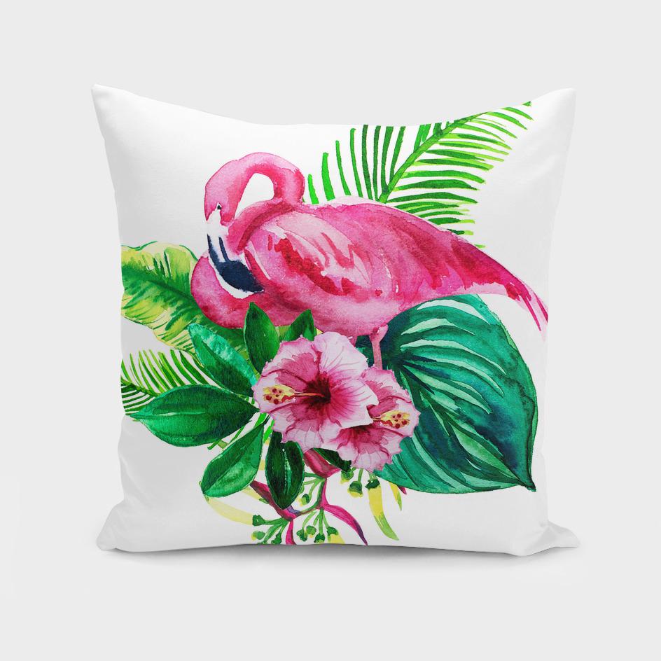 set flamingo leaves