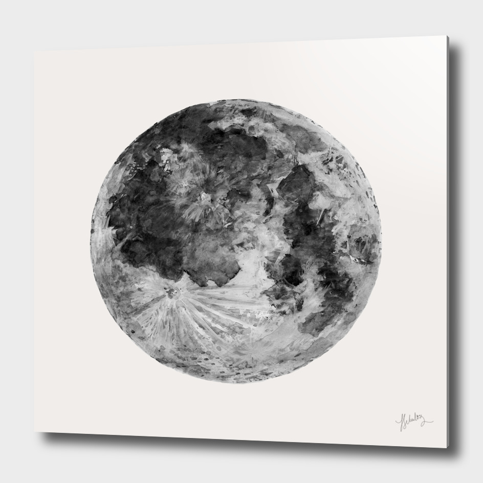 Watercolour Moon (Canvas)