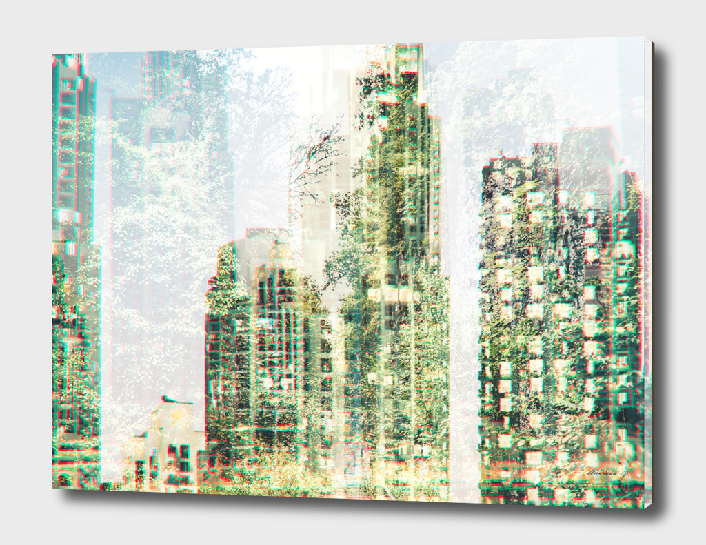 Cityscape and forest