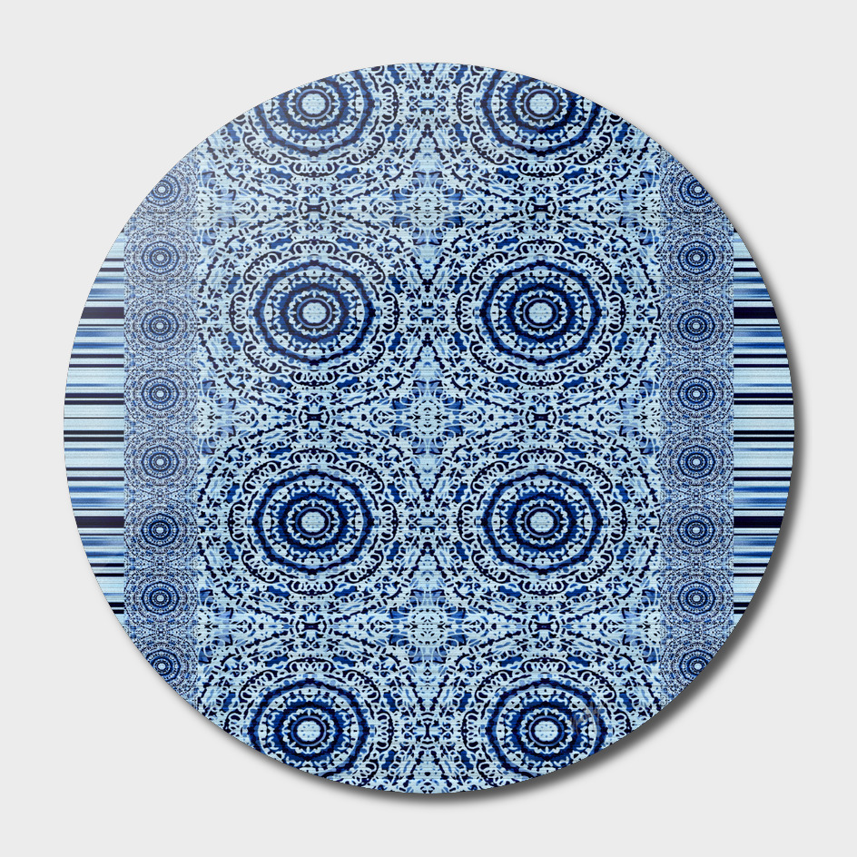 Blue Denim Mandala