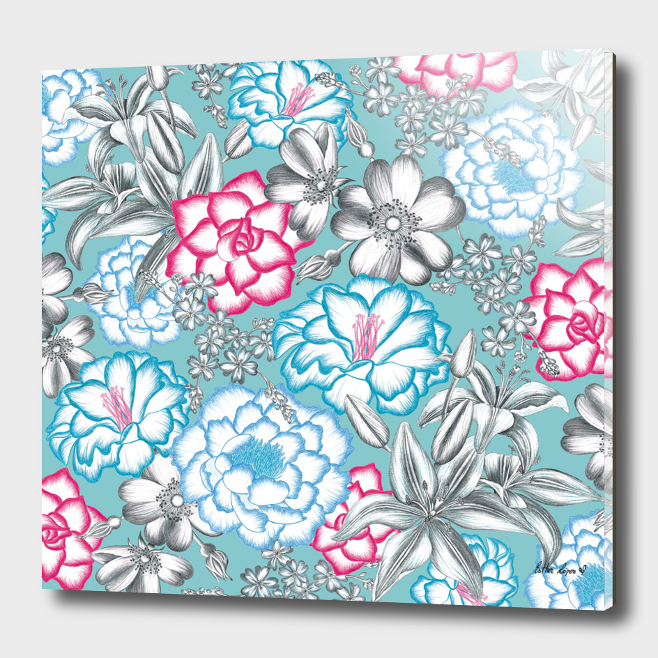 Colour meets Graphite Flowers