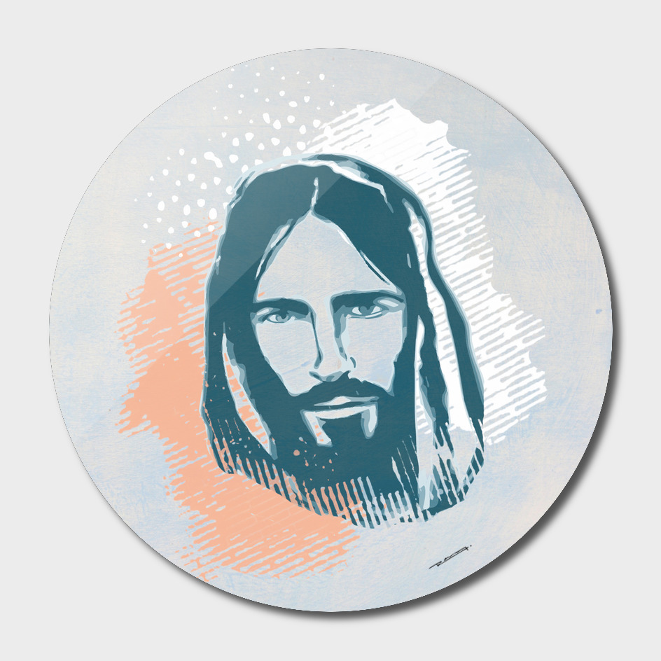 Jesus Christ Face illustration