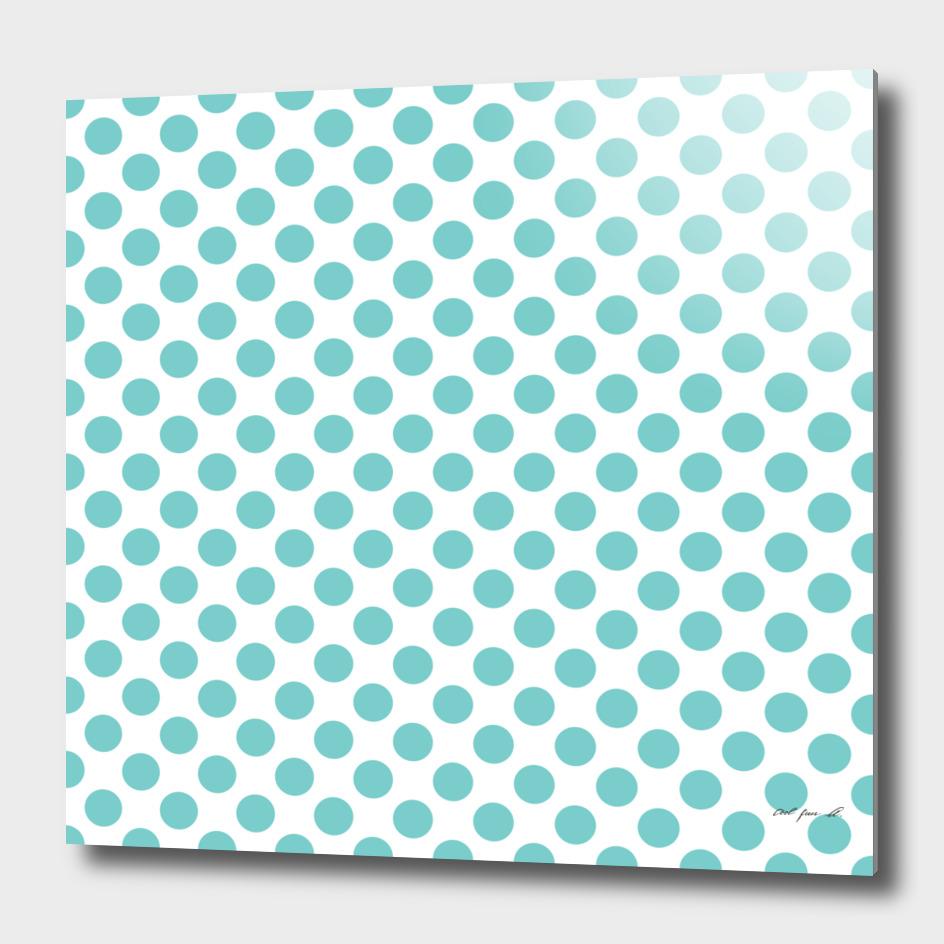 Aqua Polka Dots
