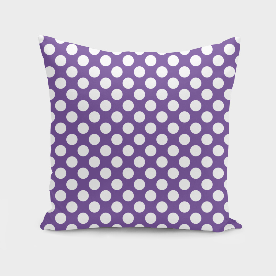 White Polka Dots with Purple Background