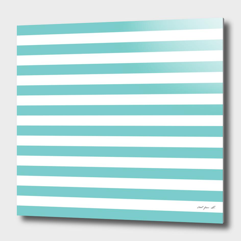 Horizontal Aqua Stripes