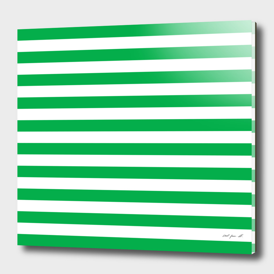 Horizontal Green Stripes