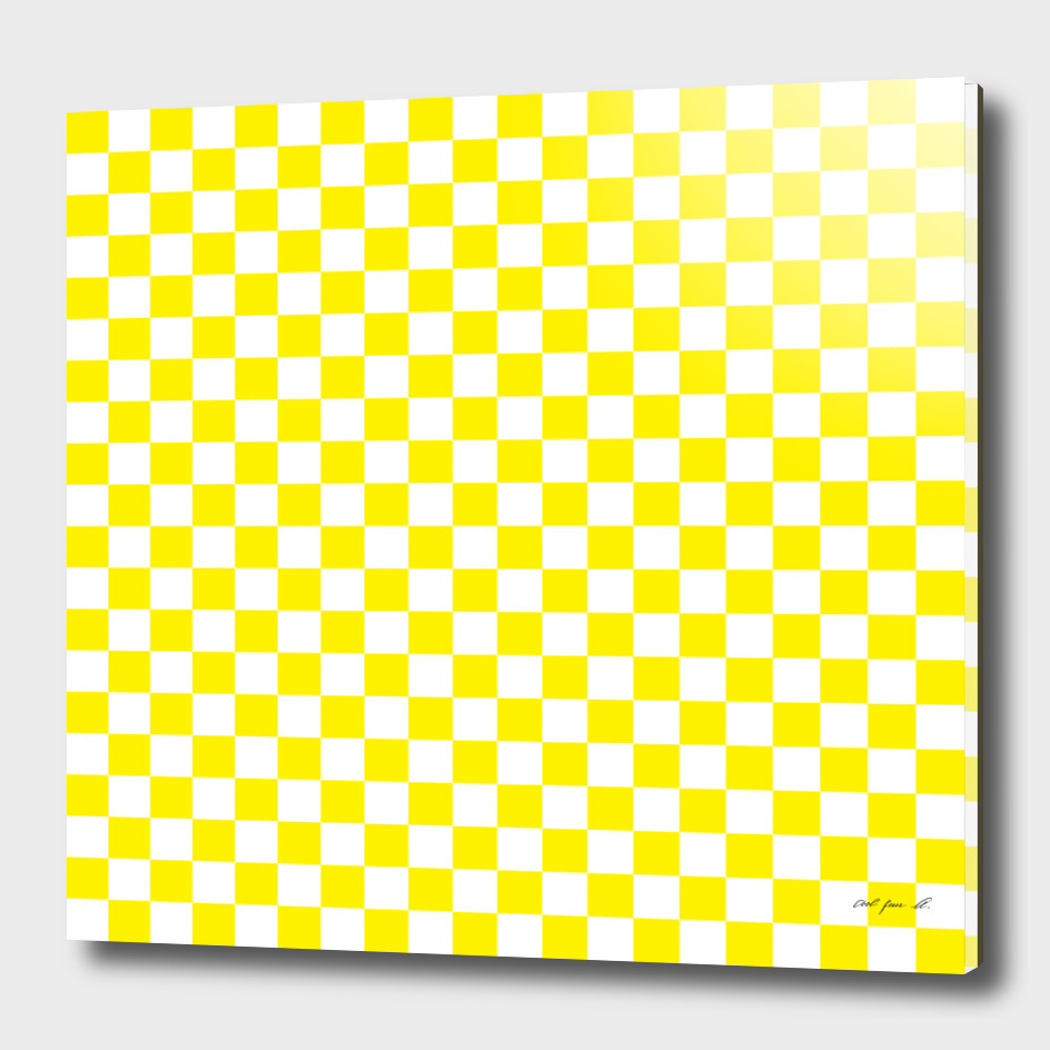 Yellow Checkerboard