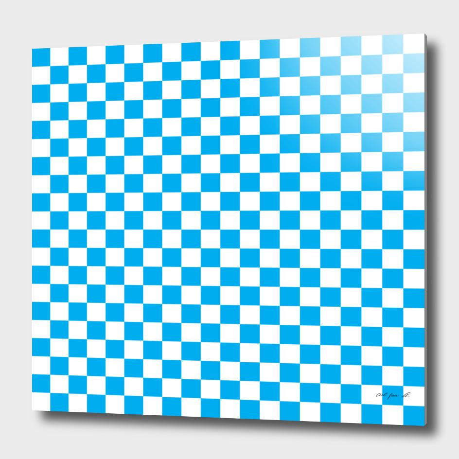 Blue Checkerboard
