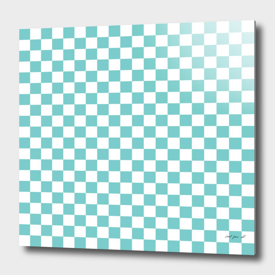 Aqua Checkerboard
