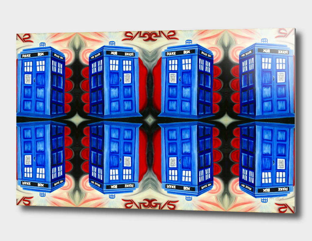 British Blue Police Public Call Box - 1111 Mirror