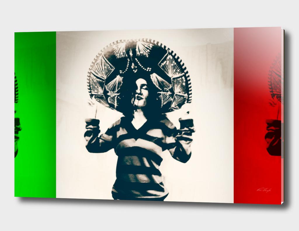 Mexican Charra - Mex Flag
