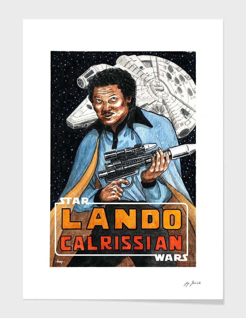 Lando Calrissian Watercolor Fanart By Yuivy