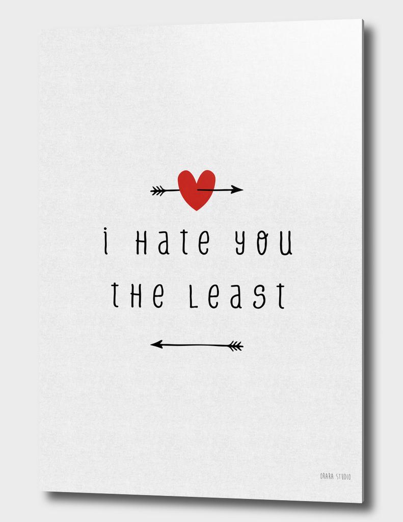 I Hate You The Least
