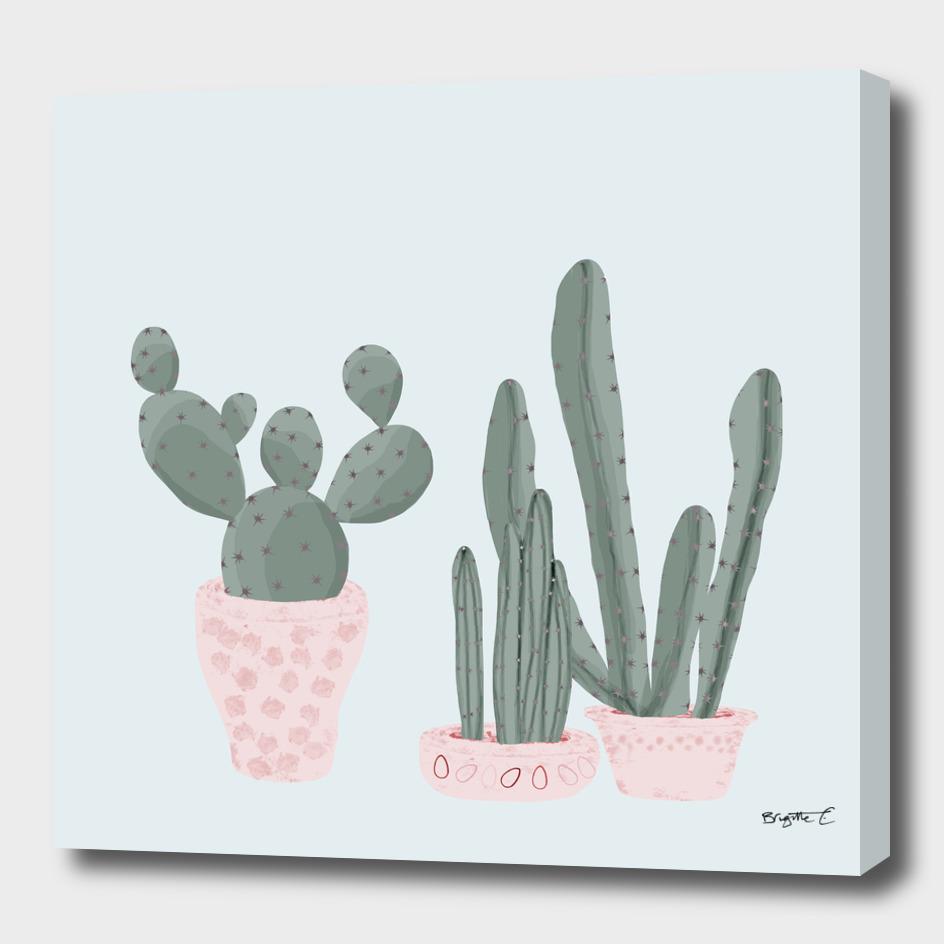 Soft Pastel Cacti Design