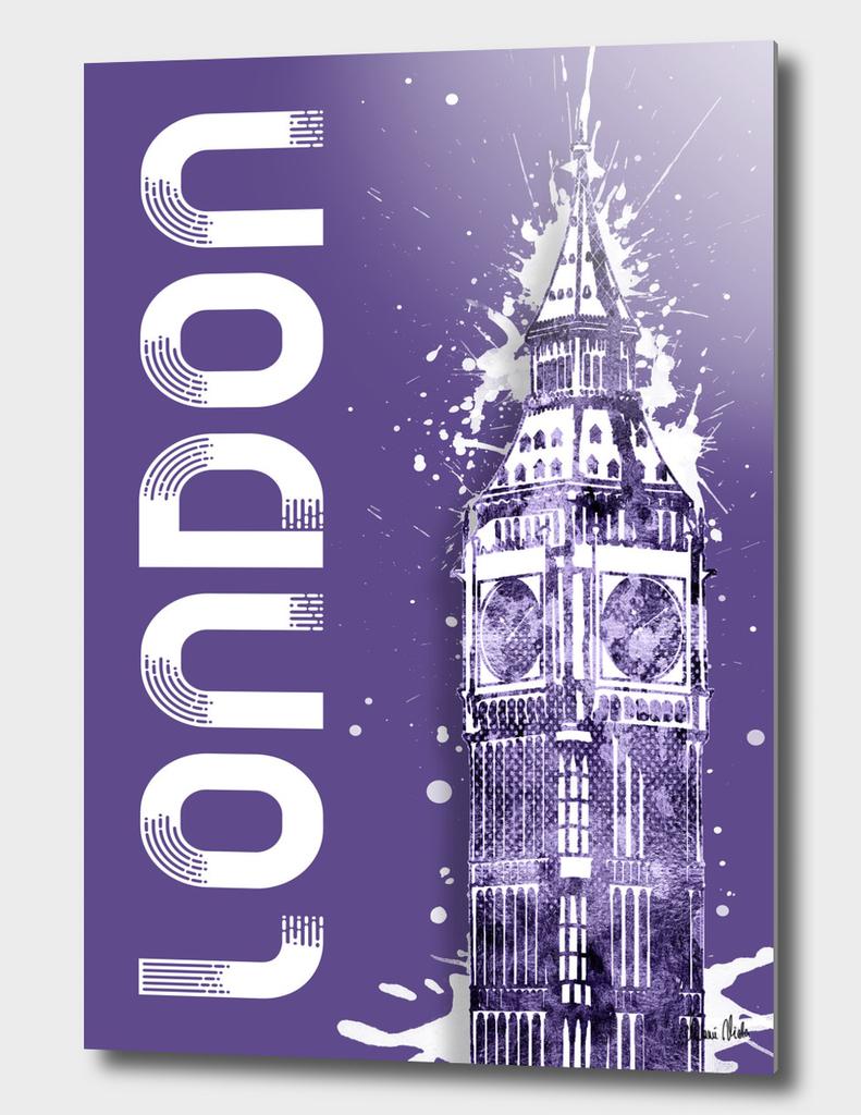 Graphic Art LONDON Big Ben | ultraviolet