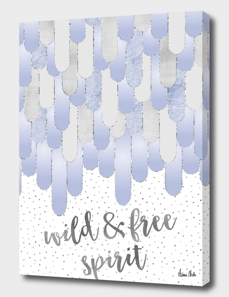 Graphic Art Feathers WILD & FREE SPIRIT | violet