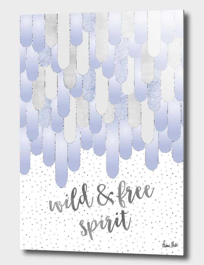 Graphic Art Feathers WILD & FREE SPIRIT | violet