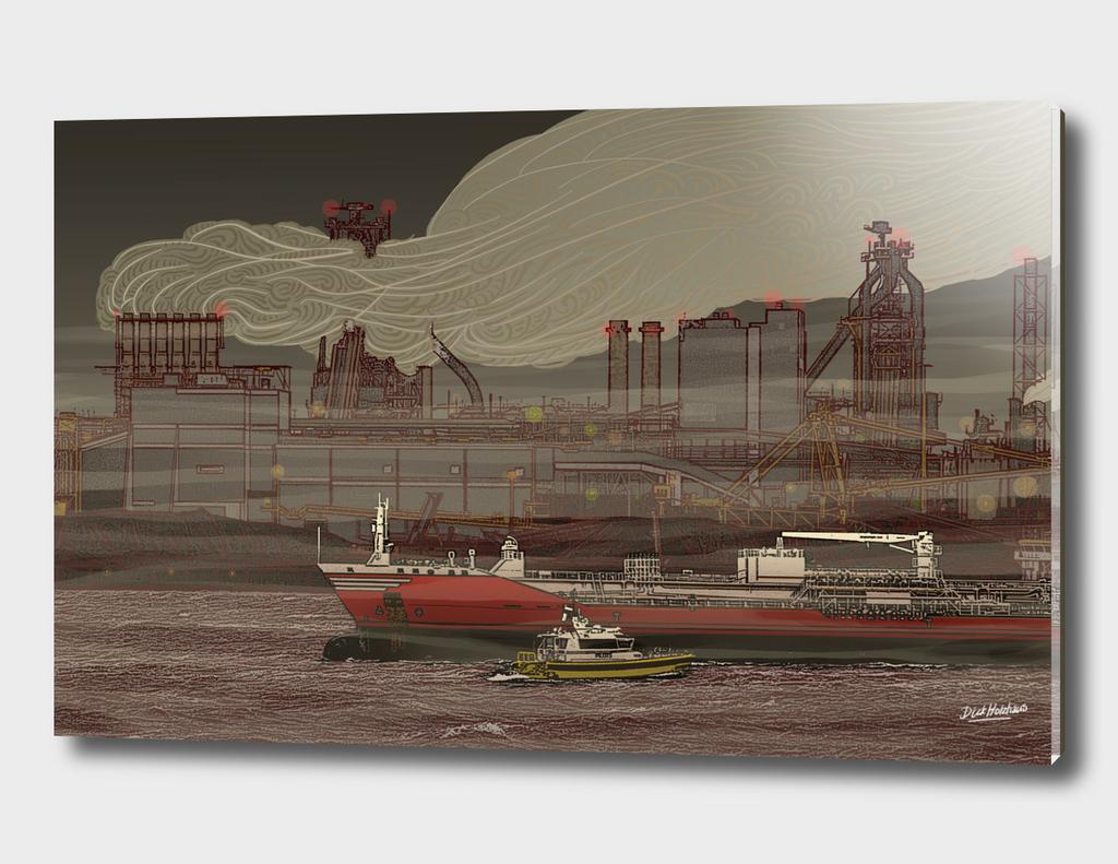IJmuiden TaTa Steel mill docks