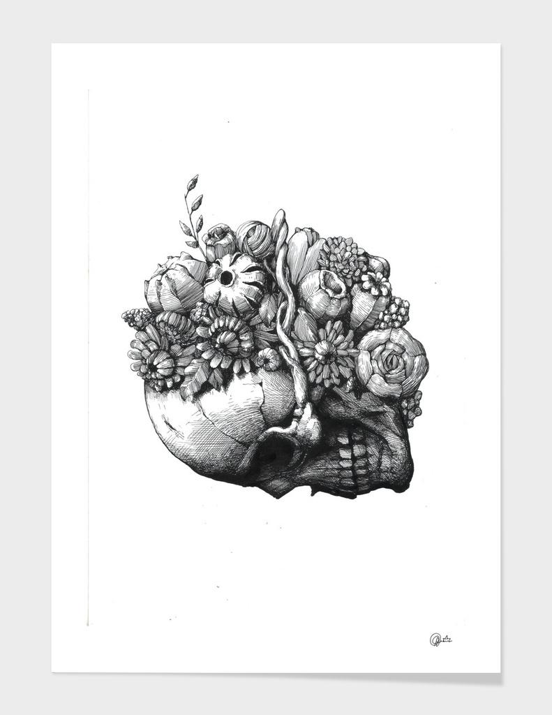 Flowers&Bones: Skull