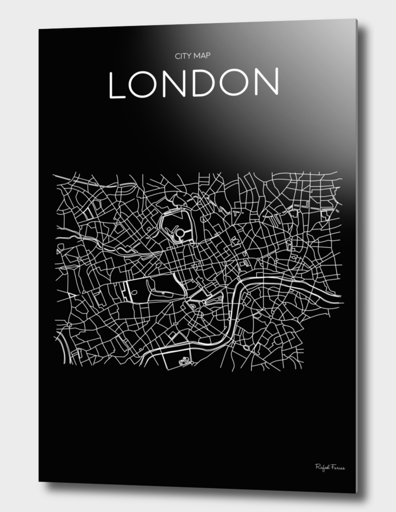 LONDON MINIMALIST CITY MAP
