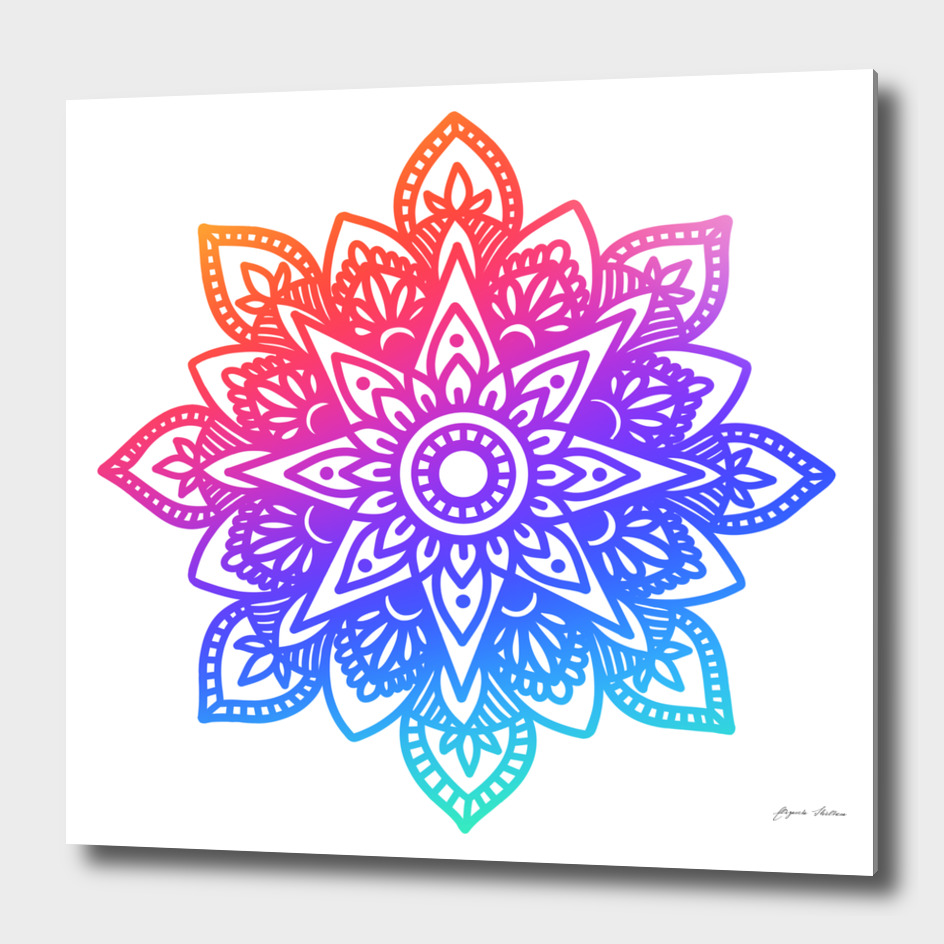 Rainbow Mandala 2