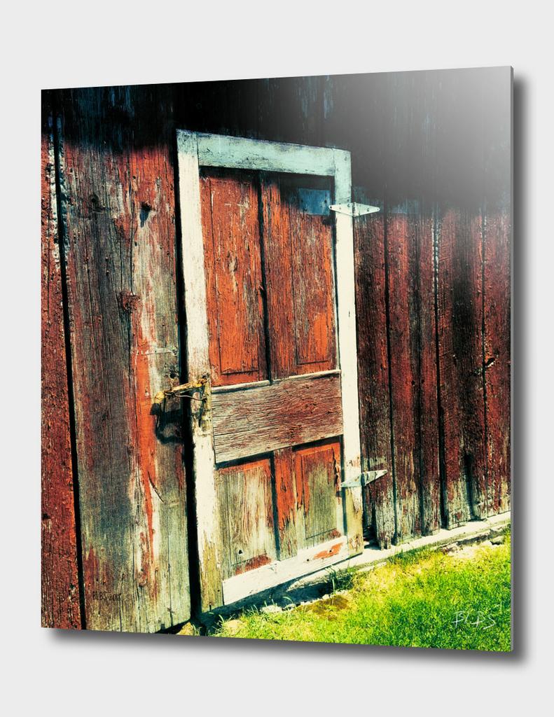 Red Barn Door, St. Agatha, Ontario