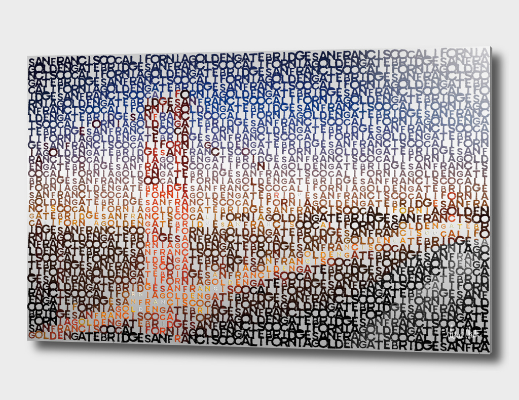 Typographic Art | SAN FRANCISCO Golden Gate Bridge