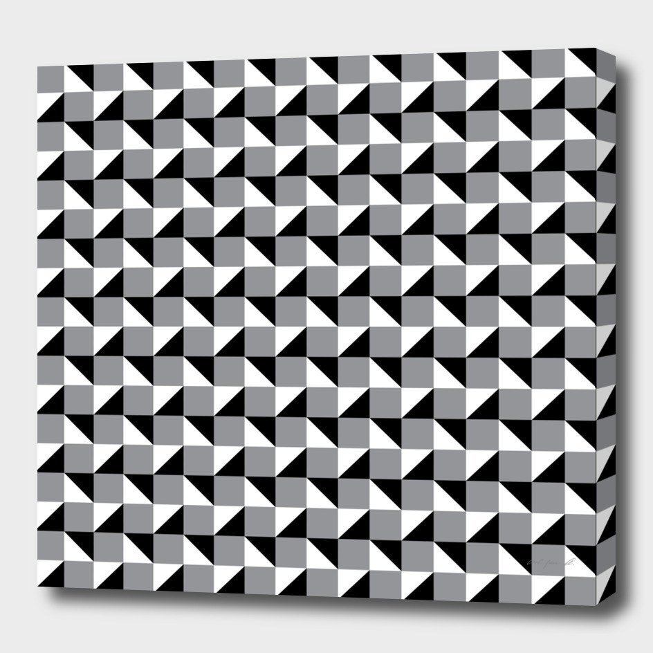 Black Grey and White Geometric Pattern