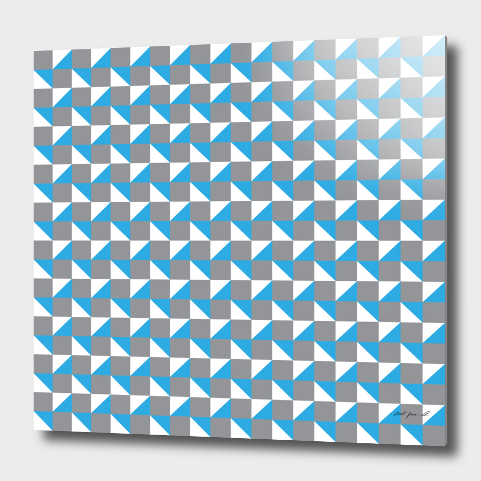 Grey Blue and White Geometric Pattern