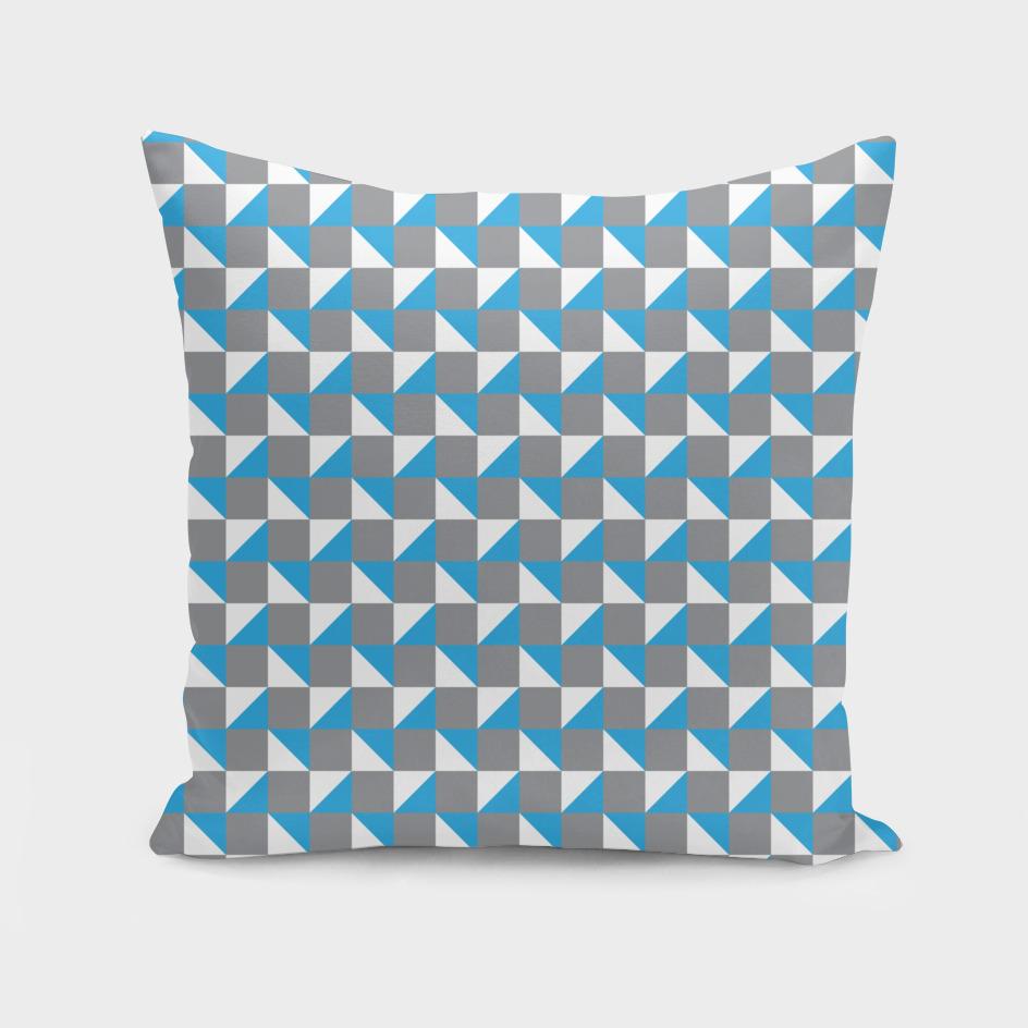 Grey Blue and White Geometric Pattern