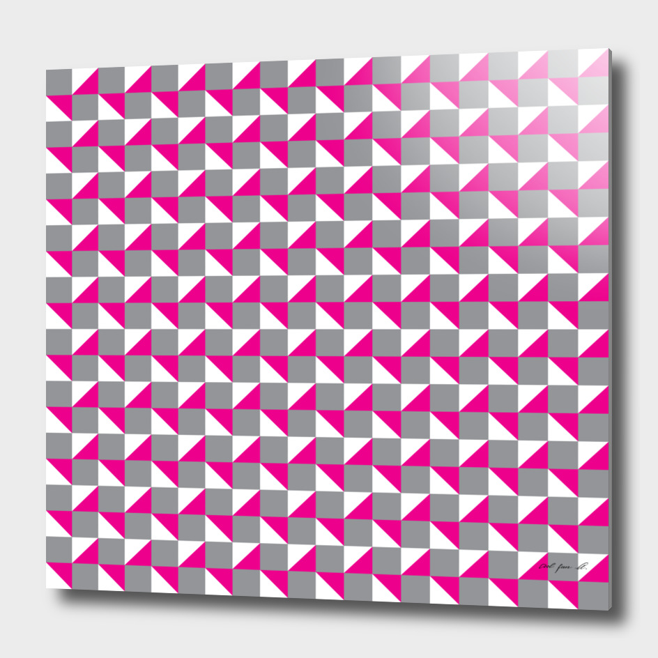 Grey Pink and White Geometric Pattern